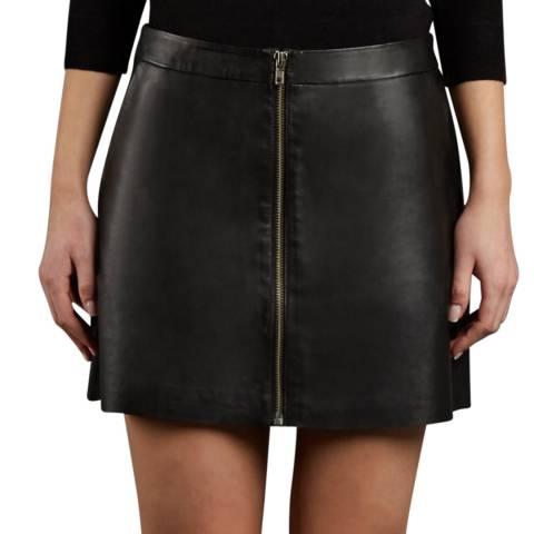 9e755b438 Black Leather Impala A-Line Mini Skirt - BrandAlley