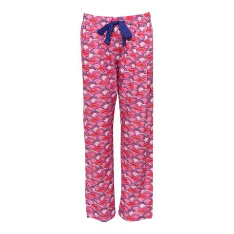 Cyberjammies Pink Connie Woven Fan Print Pyjama Pant