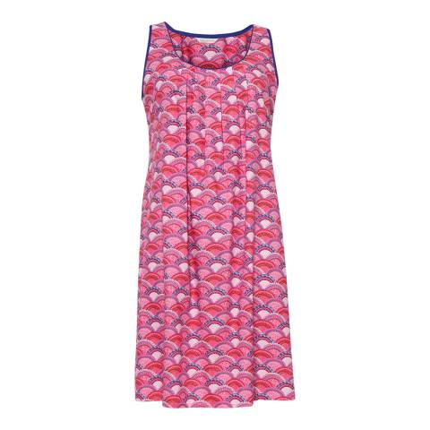 Cyberjammies Pink Connie Woven Built up Shoulder Fan Print Chemise