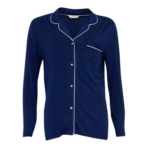 Cyberjammies Navy Sadie Super Soft Long Sleeve Knit Pyjama Top