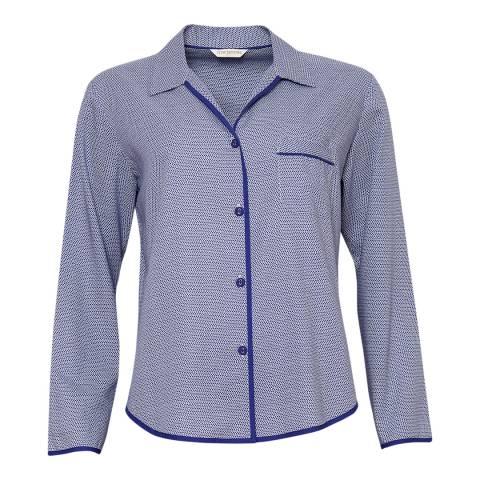 Cyberjammies Blue Connie Woven Long Sleeve Spot Print Pyjama Top