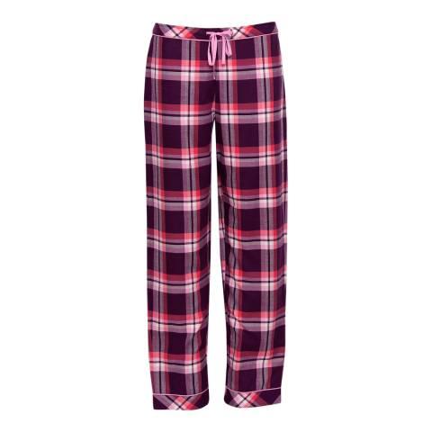 Cyberjammies Pink Anna Woven Check Pyjama Pant