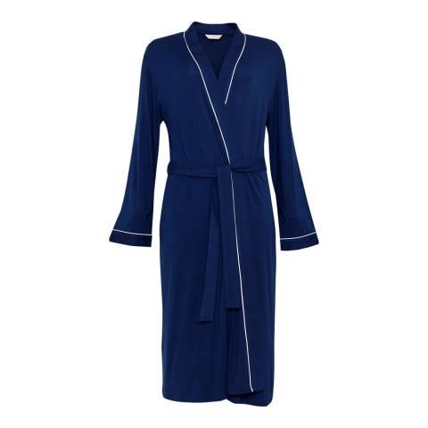 Cyberjammies Navy Sadie Super Soft  Long Sleeve Knit Long Robe