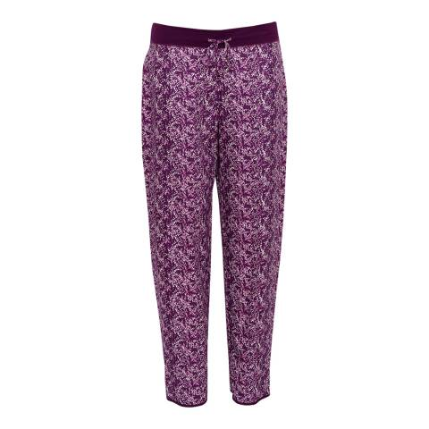 Cyberjammies Purple Anna Woven Animal Print Pyjama Pant