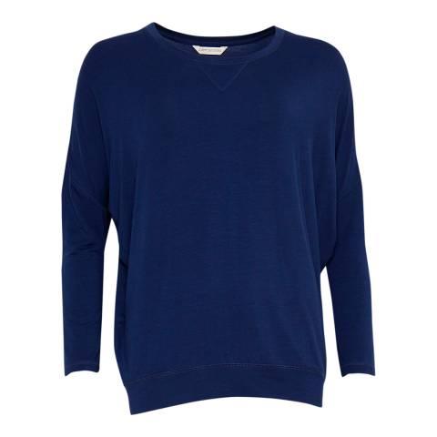 Cyberjammies Navy Sadie Long Sleeve Knit Pyjama Top