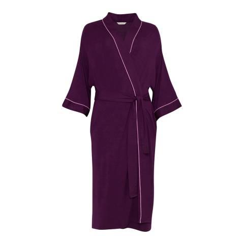 Cyberjammies Purple Anna Long Sleeve Knit Long Robe
