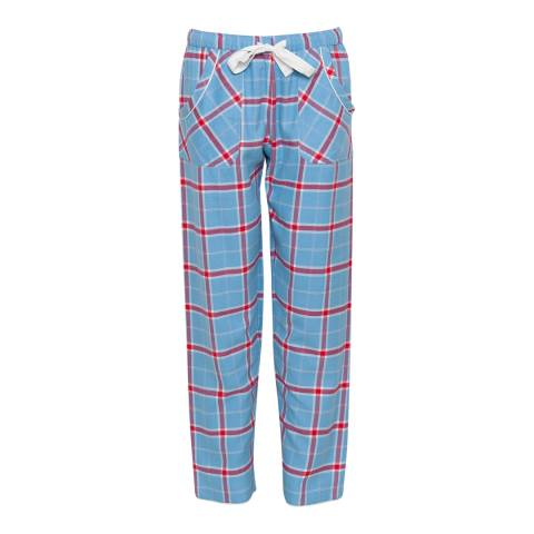 Cyberjammies Blue Wren Woven Brushed Check Pyjama Pant