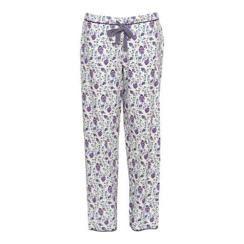 Cyberjammies Purple Abigail Woven Floral Print Pyjama Pant