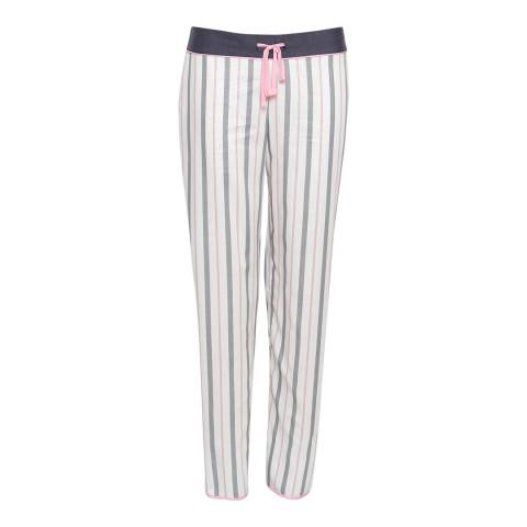 Cyberjammies Grey Faye Woven Stripe Pyjama Pant