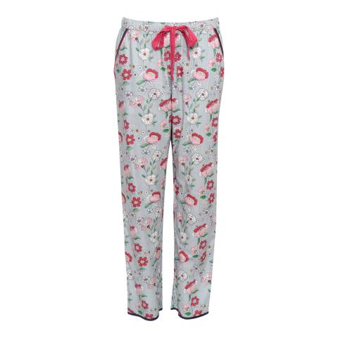 Cyberjammies Grey Faye Woven Floral Print Pyjama Pant
