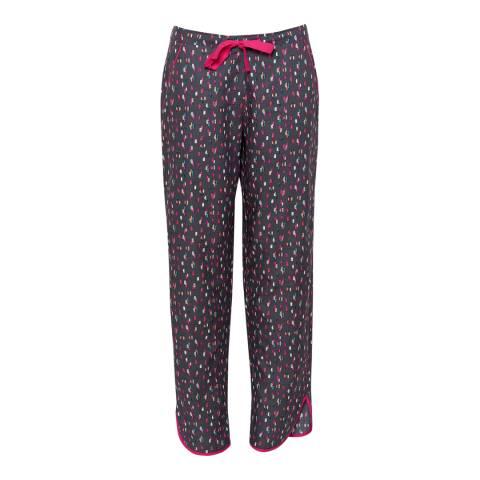 Cyberjammies Grey Bella Woven Grey Spot Print Pyjama Pant