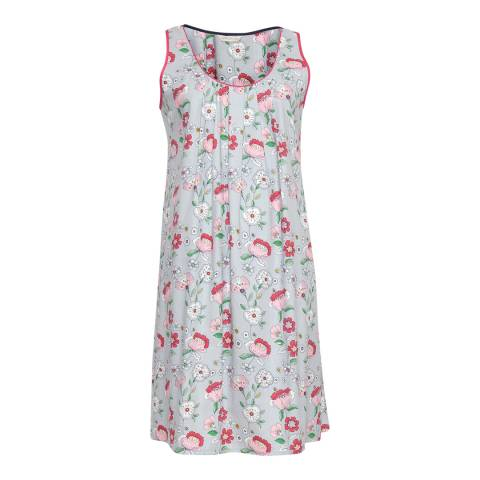 Cyberjammies Grey Faye Woven Built up Shoulder Floral Print Chemise