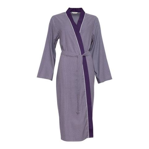 Cyberjammies Purple Abigail Woven Long Sleeve Spot Print Long Robe