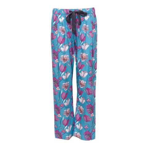 Cyberjammies Blue Bella Woven Floral Print Pyjama Pant