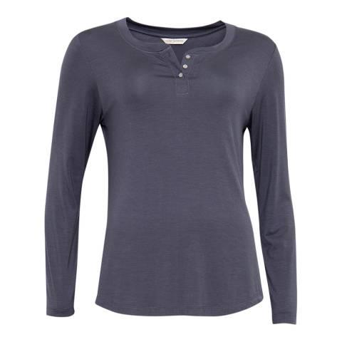 Cyberjammies Grey Faye Long Sleeve Knit Pyjama Top