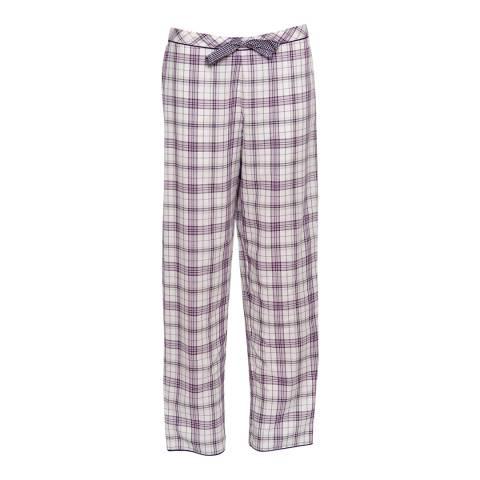 Cyberjammies Purple Abigail Woven Check Pyjama Pant