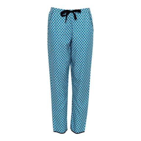 Cyberjammies Blue Clara Woven Tile Print Pyjama Pant
