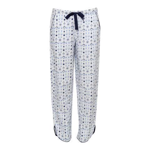 Cyberjammies White Josie Woven White Geo Print Pyjama Pant