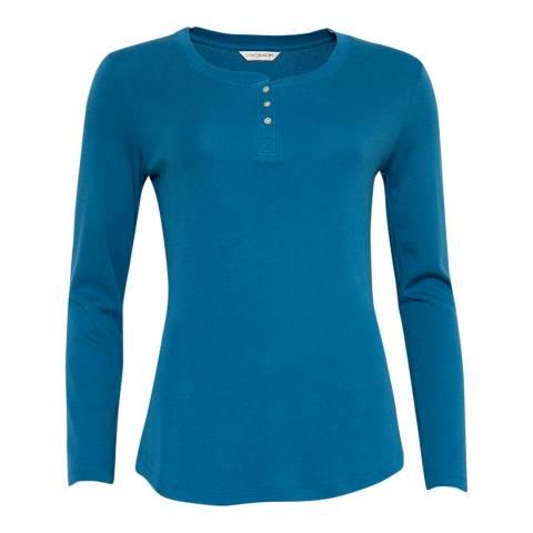 Cyberjammies Blue Clara Long Sleeve Knit Pyjama Top