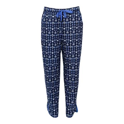 Cyberjammies Navy Josie Woven Navy Geo Print Pyjama Pant