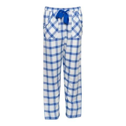 Cyberjammies Blue Maya Woven Check Pyjama Pant