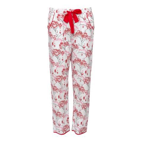 Cyberjammies Blue Erin Woven Brushed Floral Print Pyjama Pant