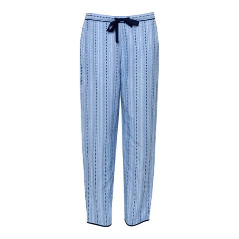 Cyberjammies Blue Josie Woven Spot Dobby Stripe Pyjama Pant