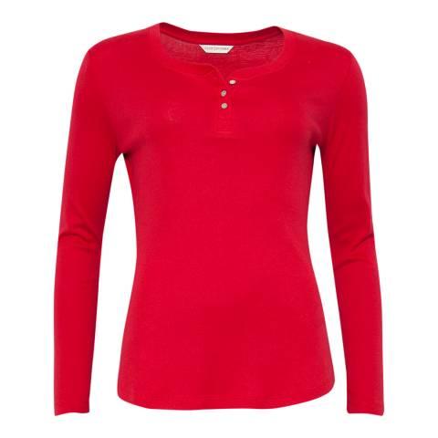 Cyberjammies Red Erin Long Sleeve Knit Pyjama Top