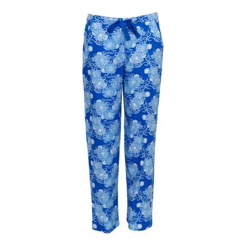 Cyberjammies Blue Maya Woven Floral Print Pyjama Pant
