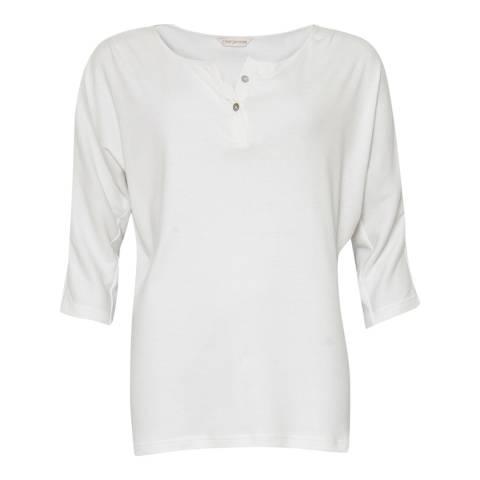 Cyberjammies White Josie 3/4th Sleeve Knit Pyjama Top