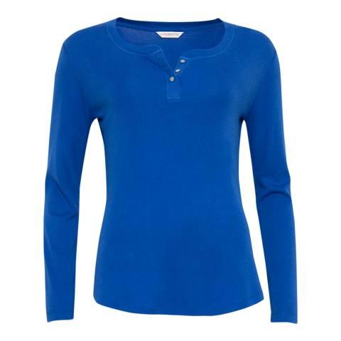 Cyberjammies Blue Maya Long Sleeve Knit Pyjama Top