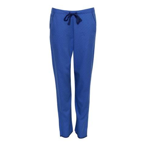 Cyberjammies Blue Sadie Woven Brushed Spot Print Pyjama Pant