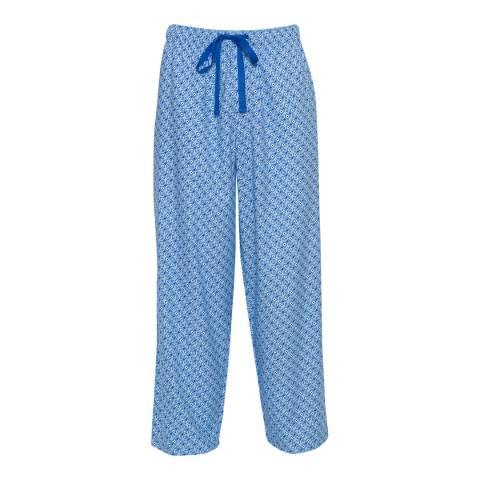 Cyberjammies Blue Sydney Woven Tile Print Pyjama Trousers