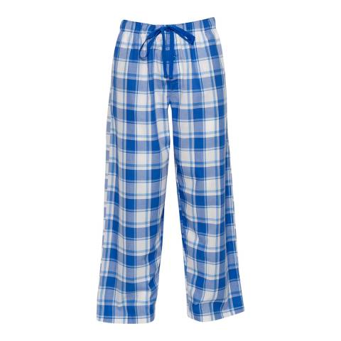 Cyberjammies Blue Sydney Woven Check Pyjama Trousers