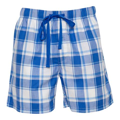 Cyberjammies Blue Sydney Woven Check Walking Shorts