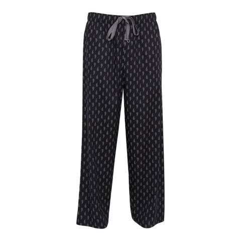Cyberjammies Black Max Woven Paisley Print Pyjama Trousers