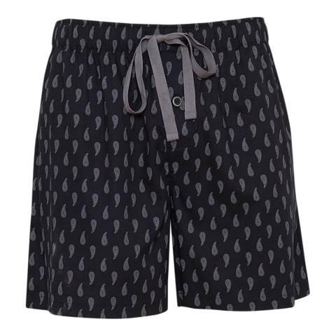 Cyberjammies Black Max Woven Paisley Print Shorts