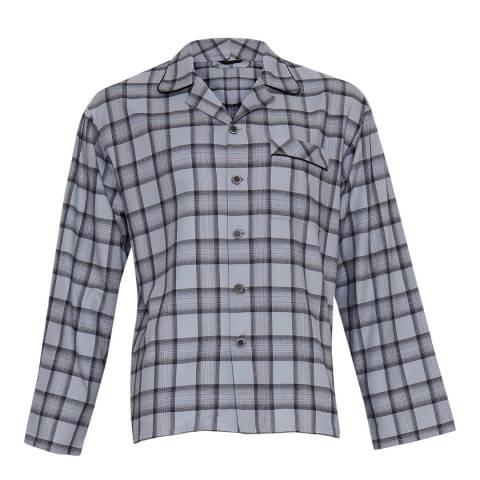 Cyberjammies Navy Max Woven Long Sleeve Check Pyjama Top