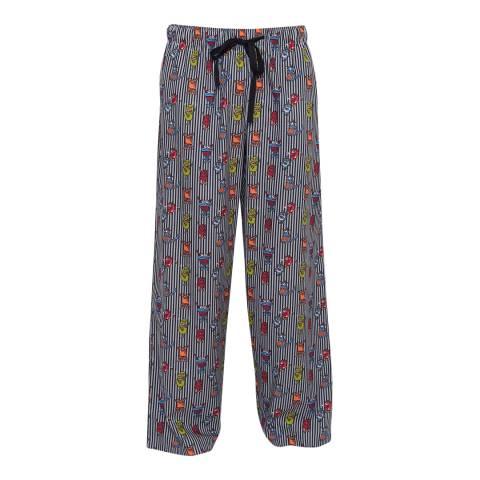 Cyberjammies Navy Max Woven Monster Print Pyjama Shorts