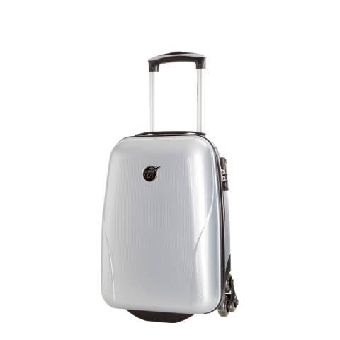 Cabine Size Silver 4 Wheel Kooper Suitcase 45cm