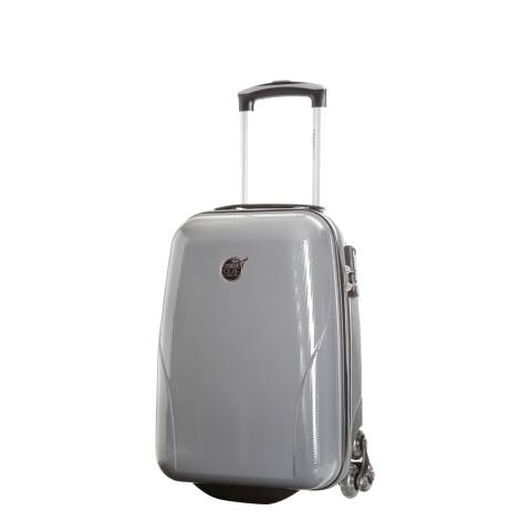 Cabine Size Grey 4 Wheel Kooper Suitcase 45 cm