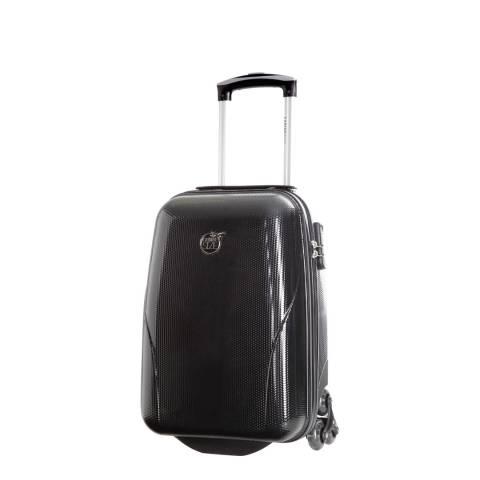 Cabine Size Black 4 Wheel Kooper Suitcase 45 cm