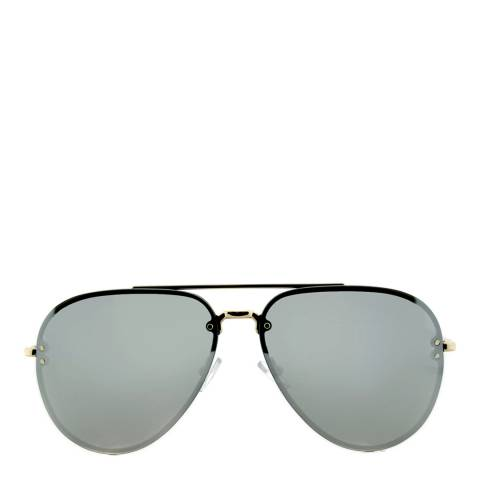 Celine Women's Gold and Silver Mirror Aviator Sunglasses 60mm