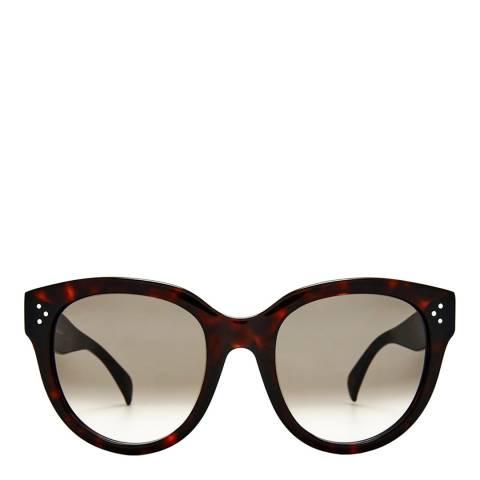 Celine Women's Black and Grey Audrey Sunglasses 55mm