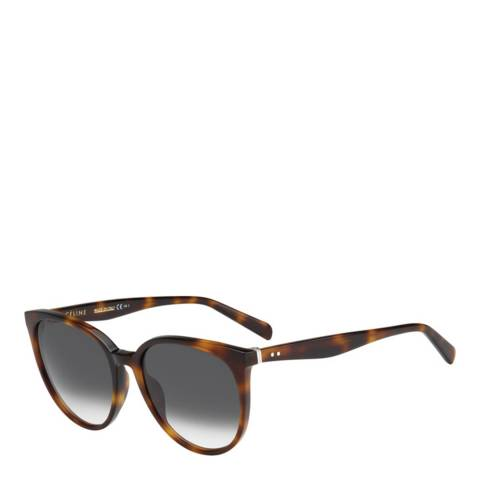 Celine Women's Brown Tortoise Shell Thin Mary Sunglasses 55mm