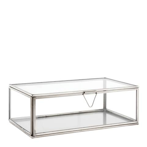 Gallery Clear Glass/Nickel Portis Medium Accessory Box