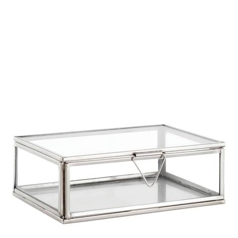 Gallery Clear Glass/Nickel Portis Small Accessory Box