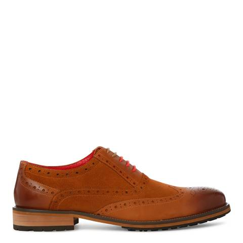 Justin Reece Mens Brown Suede/Leather Oliver 2 Brogues
