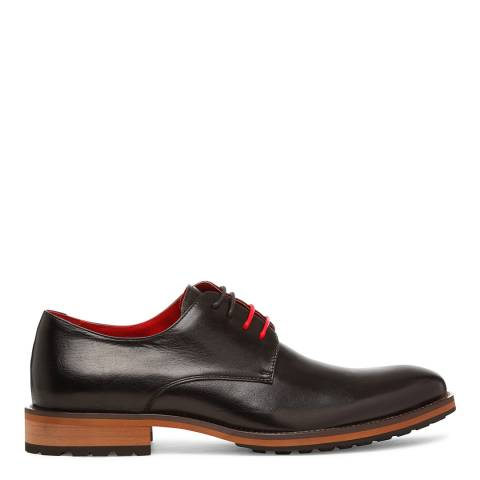 Justin Reece Mens Black Leather Martin Formal Shoes