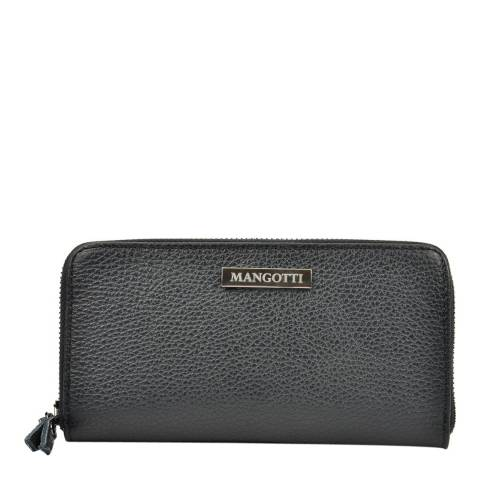 Mangotti Black Leather Wallet